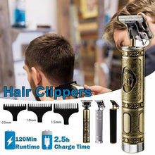 Load image into Gallery viewer, 2020 New Professional Trimmer for Barber & Home Family Use Powerful 5W 120 Minutes Durable & Fast Charging Pro Li T-Outliner Skeleton Heavy Hitter Cordless Trimmer