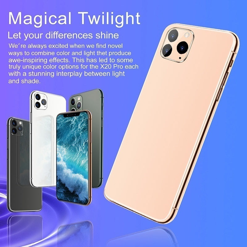 New 6.5 Inch U Screen FHD+ i11 pro Smartphone 6GB+128GB Face Unlock 4G Dual SIM Cards Support T Card Dual Rear 8MP+16MP HD Camera Bluetooth GPS Navigation Hi-fi Sound Quality Smart Phones wifi