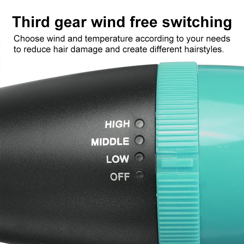 Multifunctional Hair Dryer 3-in-1 Third Gear Negative Ion Hair Styler Comb Hair Dryer Hair Curler Straight Salon Beauty Hair Styling Styler