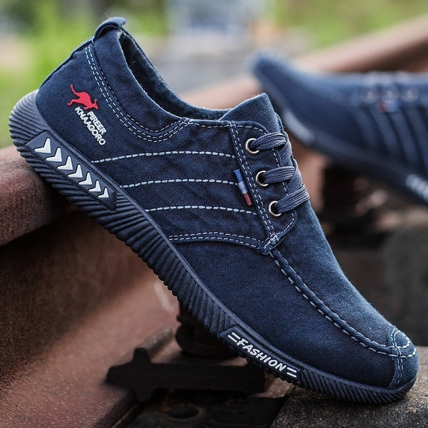 Men's Soft Bottom Casual Non-slip Men's Denim Canvas Shoes Breathable Men's Shoes Tide Board Shoes Cloth Shoes Non-slip Shoes