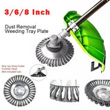 8/6/3 inch Knotted Steel Wire Trimmer Head Steel Wire Wheel Grass C utter Trimmer Parts Wear-Resistant Multi-Function Steel Wire Rust Removal Weeding Plate Mower Head Bla de
