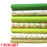 7 PCS/Set Printed Cotton Fabric Cloth Sewing Quilting Fabrics For Patchwork Needlework DIY Handmade Accessories Doll Clothes