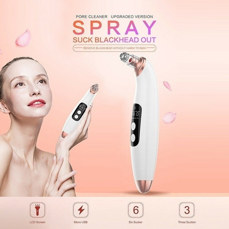 2sizes Electric Blackhead Remover Pore Vacuum Acne Pimple Removal Vacuum Suction Tool Facial Dermabrasion Machine Face Clean Skin Care