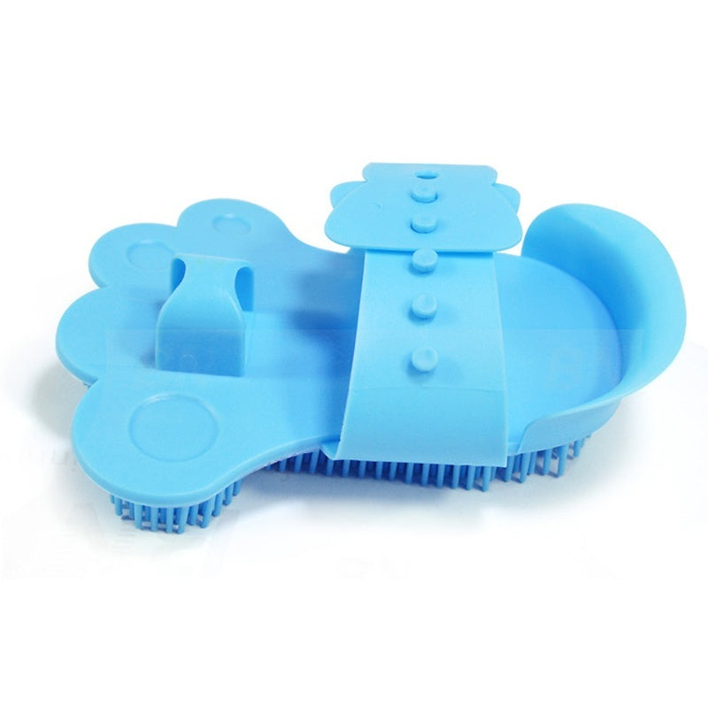 1PC Blue Pet Cat Dog Grooming Brush Cleaner Massage Comb Glove Tool For Small Large Dogs