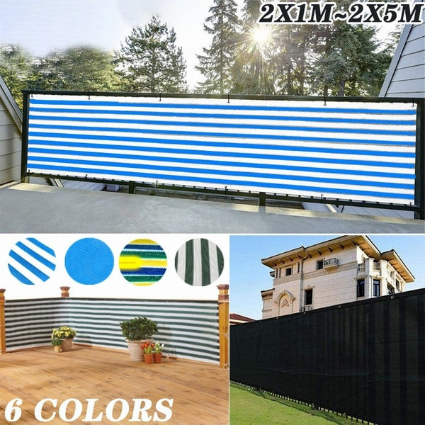 Sun Shade Sail Home Balcony Privacy Screen with Grommets Fence Deck Shade Sail Yard Cover UV Sunblock Wind Child Safe Protection