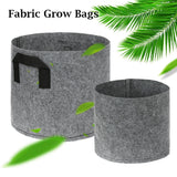 1-30 Gallon Breathable Non-woven Material Seedlings Growing Pots Grey Color Seedling Grow Bags Potato Strawberry Bag Home Garden Tools Big Plant Pot