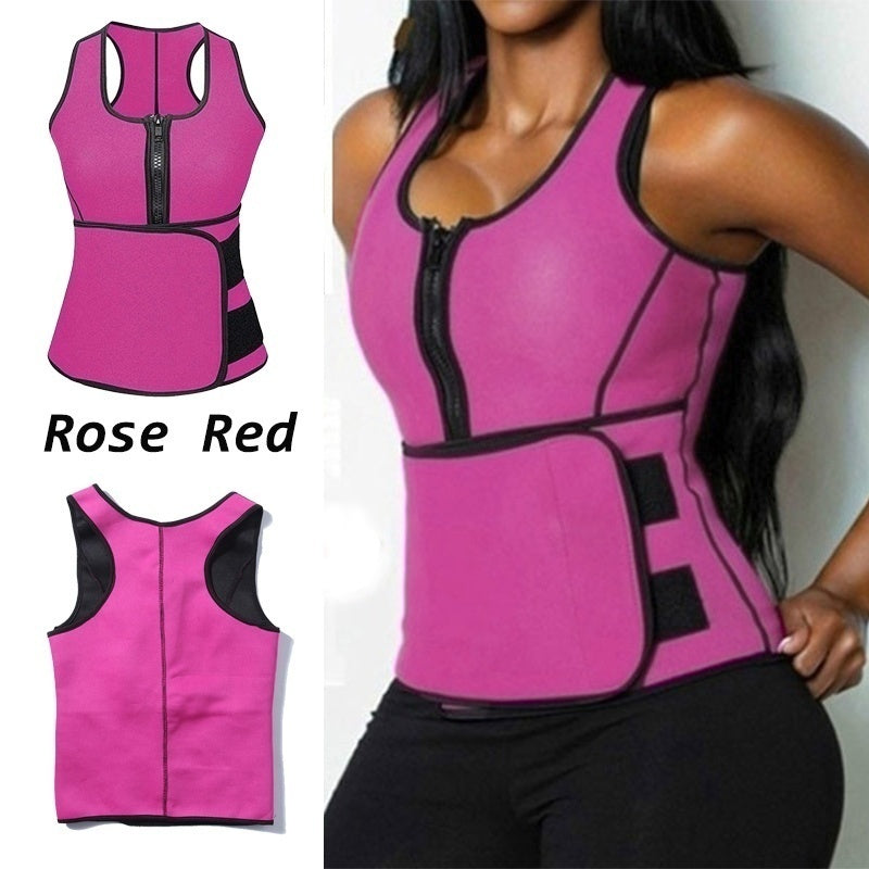 2020Hot Vest Slimming Adjustable Waist Trimmer Belt Body Shaper Tummy Fat Burner Ultra Sweat Neoprene Tank Top