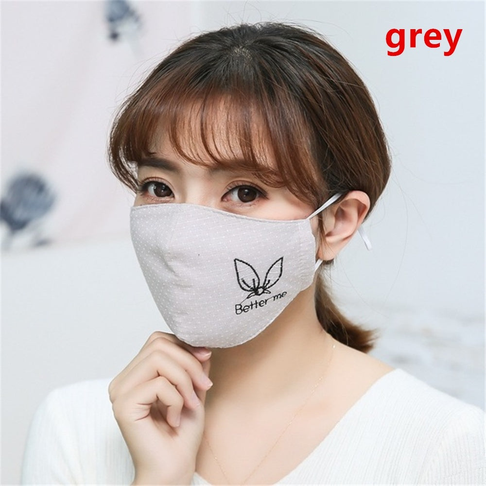 Women Health Care Cotton Washable Reusable Anti Dust Mouth Mask Mouth Respirator Face Masks Mouth-muffle