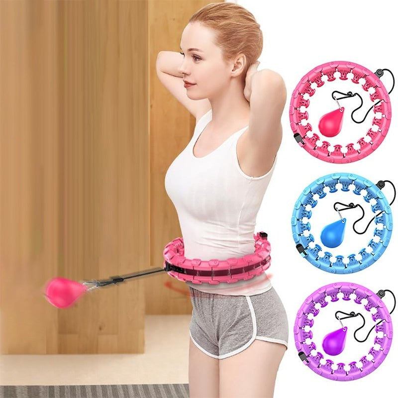 Portable Sport Hoops Yoga Waist Exerciser Hoop Detachable Belly Abdominal Muscle Trainer Circle Loss Weight Fitness Equipment