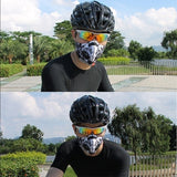2020 New Activated Carbon Face Mask &10 Filters Bicycle Motorcycle Ski Cycling Anti-pollution Printed Face Mask Outdoor Sports Face Masks with Dustproof Filter