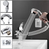 Wall Mounted Shower Faucet Set Bathroom Bathtub Shower Hand Held Spray Mixer Spout Faucet Tap Set
