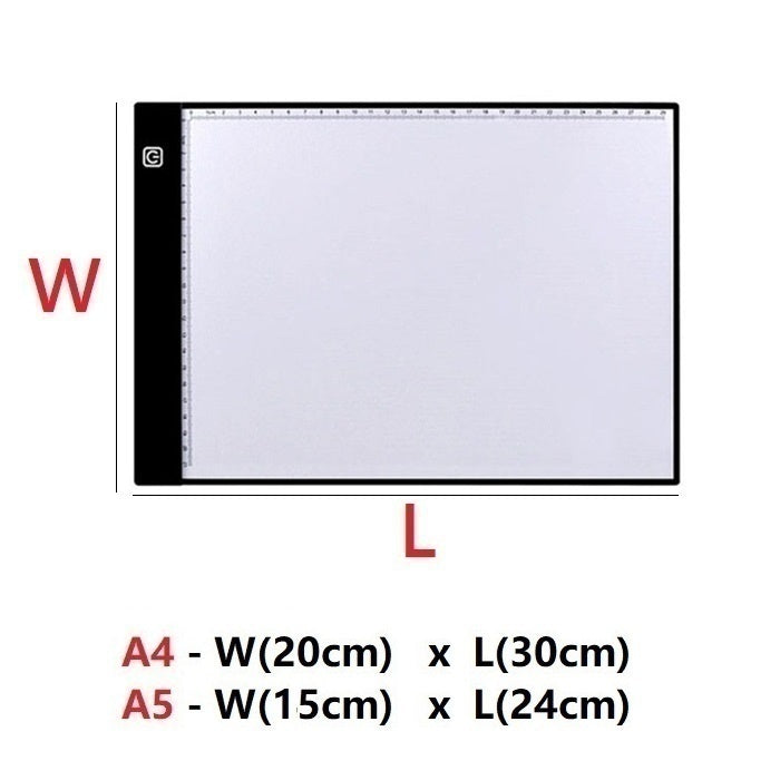 LED A4 /A5 diamond painting pad Sketch pad diamond Painting Tracing Board Copy Pad Panel Drawing Tablet Art painting pad