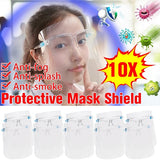 3/5/10PCS Protective Shield Full Face Protective Face Screen Anti-fog Shield Cooking