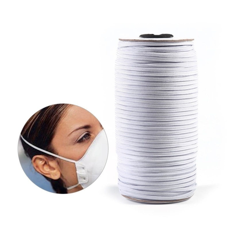 10/20/50 Yards 3-10mm White High Elastic Sewing Elastic Band Fiat Rubber Band Waist Band Stretch Rope Elastic Ribbon