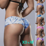 5 Colors Plus Size Womens Tie Dye Super Shorts Sports Wear Gym Leggings Yoga Bottom Panties for Girl Sexy Low Waist Beach Shorts Lady Bikini Underwear Strenchy Briefs Swimsuit S~5XL