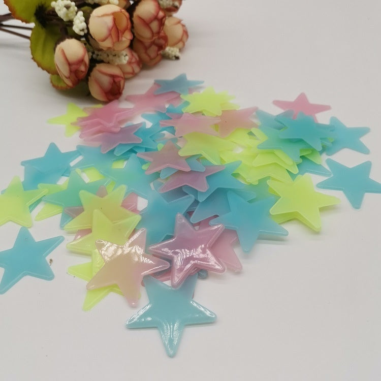 100PCS Wall Stickers Glow In The Dark Baby Kids Bedroom Home Decor Color Stars Luminous Fluorescent Wall Stickers Decal Toy