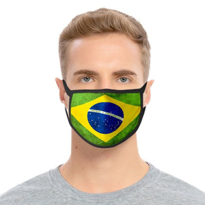 National Flag Print Face Mask Unisex Dustproof Breathable Face Mask Washable Cotton Mouth Muffle