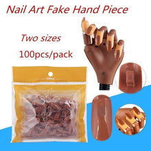 Load image into Gallery viewer, Nail Trainning Practice Hand Nail Display Manicure Supply  Flexible Movable False Fake Hands for Nail Manicure-Best Manicure DIY Print Practice Tool