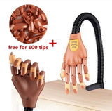 Nail Trainning Practice Hand Nail Display Manicure Supply  Flexible Movable False Fake Hands for Nail Manicure-Best Manicure DIY Print Practice Tool