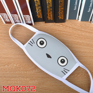 Cartoon totoro printed face mask dust and fog mask for both men and women