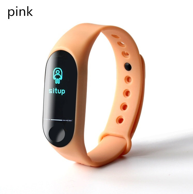 New Smart Bracelet Heart Rate Blood Pressure Sleep Monitor Fitneess Tracker Smartband Waterproof Sport Wristband SMS Call Sedentary Reminder Activity Tracker Smart Watch for IOS Android