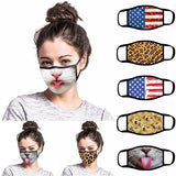 7 Styles 3D Cartoon Animal Print Face Masks Reusable Cute Fashion Windproof Outdoor Personality Funny Mouth Masks for Women Men