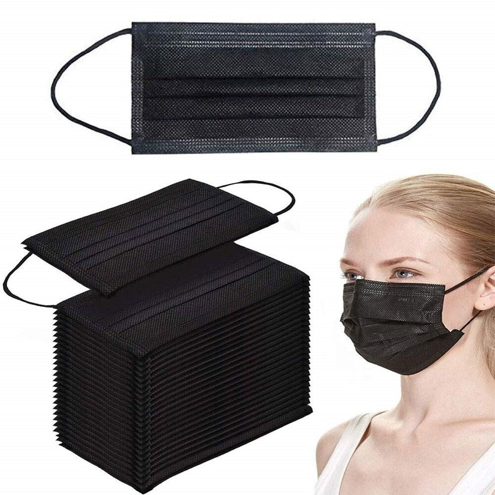 10/20/50pcs 3-Layers Face Mask Disposable Earloop Mask Breathable Face Mask Non-woven Dustproof Mask