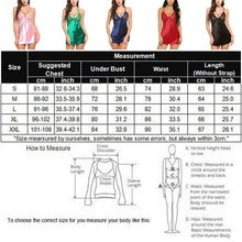Load image into Gallery viewer, New fashion Sexy Women Lace Silky Soft Shiny Satin Chemise Nightdress Nighty Nightwear S-XXL