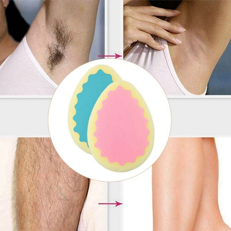 3/1Pcs Popular Magic Painless Hair Removal Depilation Sponge Pad Remove Hair Remover
