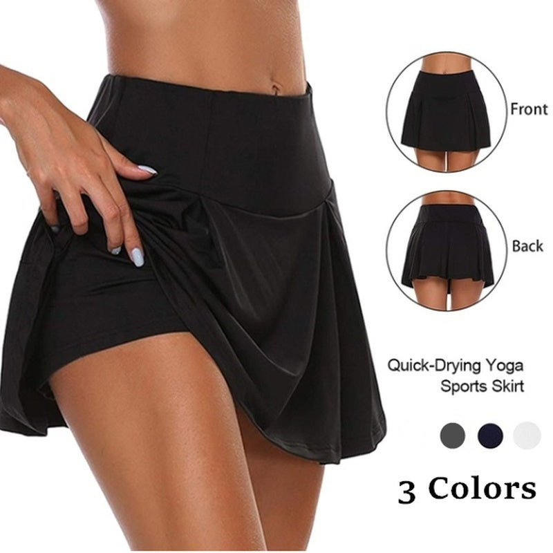 New Women's Double-layer Sports Shorts Fitness Quick-drying Shorts Yoga Leggings Fashion Skirt