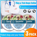 New  Flea and Tick Collar for Dogs, 8 Month Protection - Seresto Large Dog - 70cm Collar