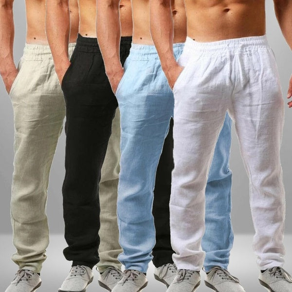 2020 Spring and Summer New Men's Hip-hop Breathable Cotton and Linen Casual Sports Pants Trousers