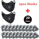 2020 Dust Mesh Mask Activated Carbon Filter Dust Odor Mask Anti-Fog (not for Medical Use