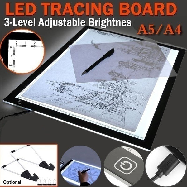 LED A4 /A5 Student Sketch pad Painting Tracing Board Copy Pad Panel Drawing Tablet Art painting pad