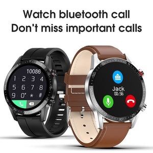 ECG PPG Men Smart Watch IP68 Waterproof Heart Rate Blood Pressure Blood Oxygen Monitor Fitness Tracker Wristband Bluetooth Wrist Watch Smart Band Sport Smart Watch for IOS Android