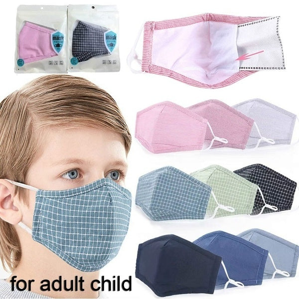 Washable Pm2.5 Mouth Masks Anti Dust Anti Pollution Windproof Cotton Mask Fashion Reusable Face Mask For Adults And Children
