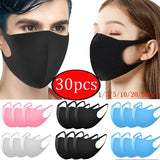 1/3/5/15/20/30PCS Fashionable Non-disposable Dust-proof Breathable Ice Silk Masks For Univex