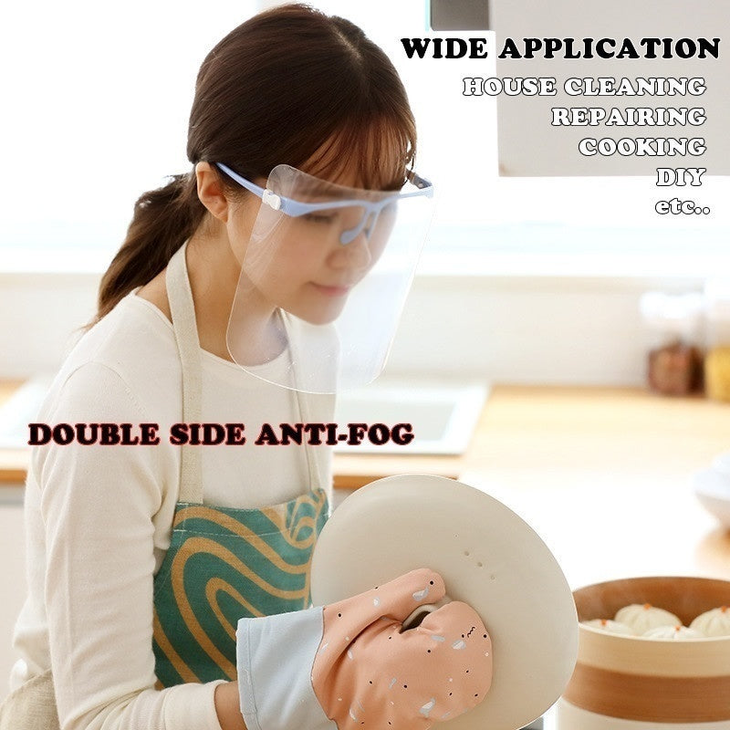 Kitchen Cooking Anti-Oil Splash Clear Face Cover BBQ Transparent Protective Mask Face Eye Protective Shield