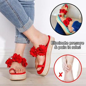 EasyWear Flower Slip On Platform Sandals