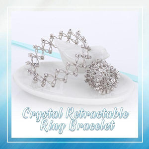 Crystal Retractable Ring Bracelet