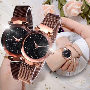 GlamLuxe Cosmic Quartz Watch