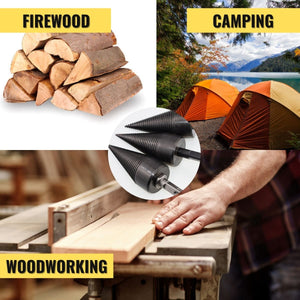 3-Second Firewood Log Splitter Drill Bit