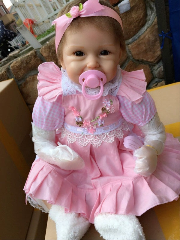 iCradle Fashion Reborn Baby Doll 22' Realistic Handmade Silicone Newborn baby doll Maternal and Child Toy