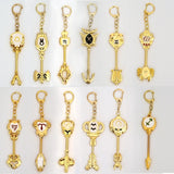 Fairy Tail Lucy The Twelve Constellations Cosplay The Sign of The Zodiac Alloy Key Pendant 12 Styles Metal Keychain Heartfilia