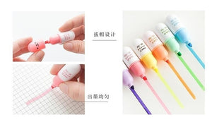 6pcs /Set Cute Pill Mini Highlighter Marker Drawing Pen School Office Supply Kids Student Stationery