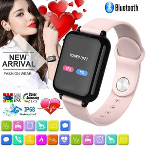 Men Women Fitness Sport Smart Wristband IP67 Waterproof Smartwatch Heart Rate Monitor Activity Tracker Blood Pressure Multiple Sport Mode Wearable Wrist Watch for Samsung,Xiaomi Huaiwei,Iphone ,IOS,Android