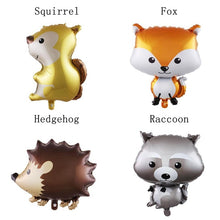 Load image into Gallery viewer, 1Pcs Happy Birthday Supplies Helium Ballon Raccoon Hedgehog Animal Balloons Party Decoration Woodland