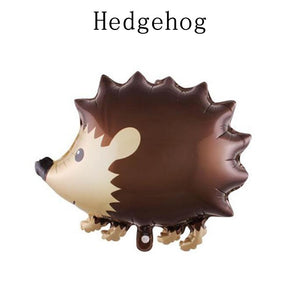 1Pcs Happy Birthday Supplies Helium Ballon Raccoon Hedgehog Animal Balloons Party Decoration Woodland
