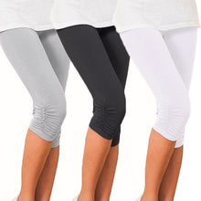 Load image into Gallery viewer, Women Cropped 3/4 Leggings Stretch Tights Shorts Pants Casaul Slim Capri Pants Capris
