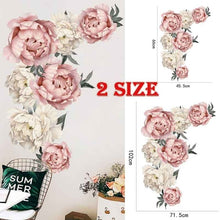 Load image into Gallery viewer, DIY Peony Flowers Pattern Wall Sticker Art Decal Background Sticker For Home Living Room Bedroom Decoration